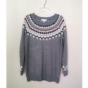 Motherhood Maternity Gray Metallic Sweater L